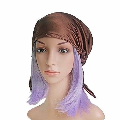 Hüte Ära Viktorianischen (Emmet Sleep Cap Mütze Seide mit Elastikband Soft Breathable)