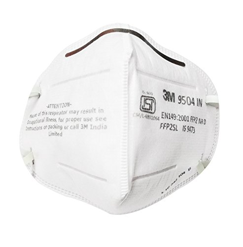 Respirator White 9504 And In 3m Goggles Combo Safety Arex Particulate Mask