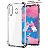 WOW Imagine Soft Jel Ultra Thin 0.3mm Full Protection Clear TPU Back Case Cover for Samsung Galaxy M30 M 30 (Transparent)