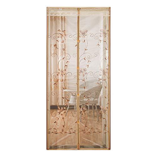 TCLZXF Fliegengitter Balkontür Magnet Fliegennetz Fenster Insektenschutz Tür Moskitonetz Fliegenvorhang 95x205cm,Kinderleichte Klebemontage Ohne Bohren,Blau, Braun, Beige, 9 Größen,Beige,