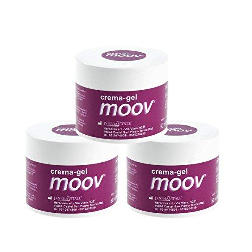 MOOV - Original ayurvedische Salbe - Kühlend und Lindernd bei Muskelschmerzen - 100% Natürliche Creme - 3 Packungen/je 50 ml - Vorteilspack