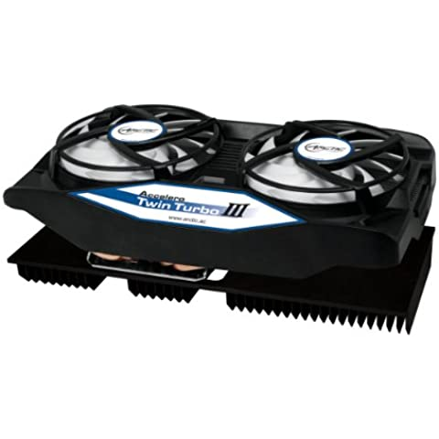 ARCTIC Accelero Twin Turbo III - Dissipatore di calore per scheda grafica multicompatibile con radiatore posteriore per un raffreddamento migliore della memoria RAM e del trasformatore di tensione