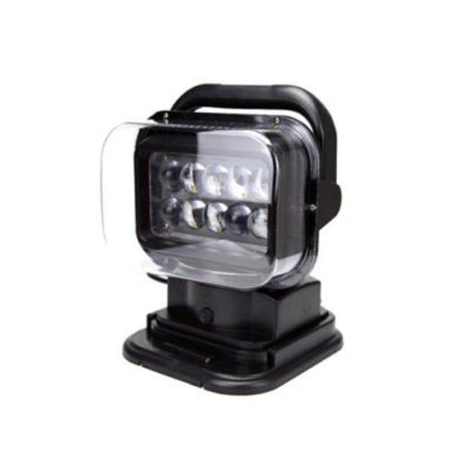 Ting AO LED Cree 50 W Télécommande recherche spot 360 ° Noir pour Offroad Bateau SUV de voiture