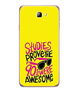 PrintVisa Designer Back Case Cover for Samsung On5 (2016) New Edition For 2017 :: Samsung Galaxy On 5 (2017) (Awesome Spectacle Study Yellow Pink )