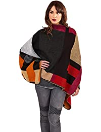 Lora Dora Womens Poncho Wrap Knitted Shawl Cape