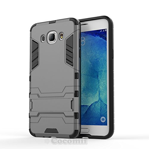 Galaxy J5 2016 Funda, Cocomii Iron Man Armor NEW [Heavy Duty] Premium Tactical Grip Kickstand Shockproof Hard Bumper Shell [Military Defender] Full Body Dual Layer Rugged Cover Case Carcasa (Gray)