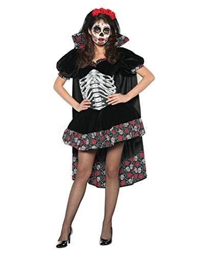 Horror-Shop 3-TLG. Day of The Dead Senorita Kostüm für Halloween L