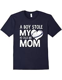 A Boy Stole My Heart He Calls Me Mom Rugby Moms Gift T-Shirt Herren, Größe 3XL Navy