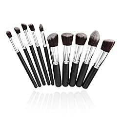Savisto Premium Kabuki Make Up Pinselset- 10 Stück professionelle synthetische Kosmetik MakeUp Pinsel