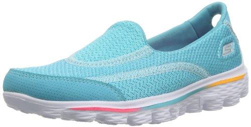 Skechers Go Walk 2, Baskets mode fille Turquoise - Türkis (TURQ)