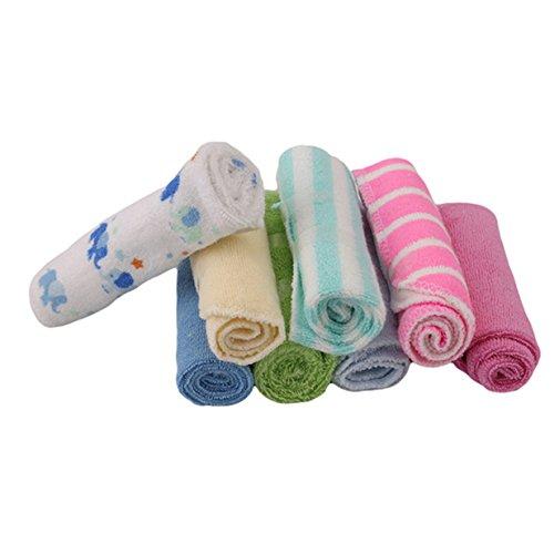 Lalang 8pcs Vielzweck-Weicher Baumwolle Waschlappen, Baby Waschlappen Set