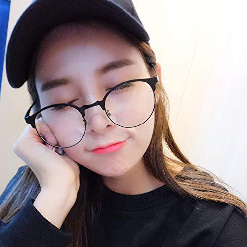SCJ Kurzsichtig Kreis Rahmen in Korea belebt alte Zoll Brille weiblich Han Bans Rundschreiben blieb über Nacht eine Brille Rahmen auf den ersten Ladys 'tragen Dekoration Gesicht ohne Schminkspie