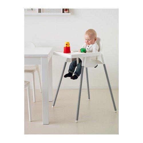 """IKEA Kinderhochstuhl """"ANTILOP"""" mobiler Babystuhl mit Sicherheitsgurt UND Tablett – weiss - 3"""