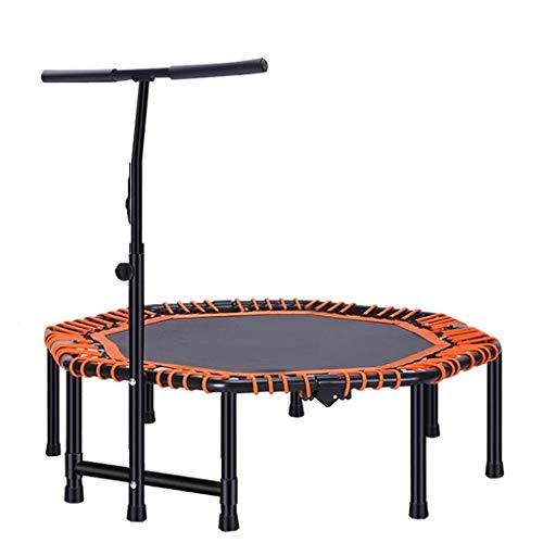 Boden Trampoline Outdoor Indoor Bungee Sport Jumping Fitness 48-Zoll-Fitness-Trampolin Falttrampolin | Leiser und sicherer Sprung | Rutschfestes Mini-Trampolin Innentrampolin | Verstellbarer Handlau