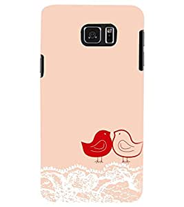 PRINTSWAG LOVE BIRDS Designer Back Cover Case for SAMSUNG GALAXY NOTE 5 EDGE