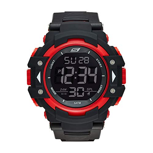 Skechers Men's SR1038 Digital Display Quartz Black Watch