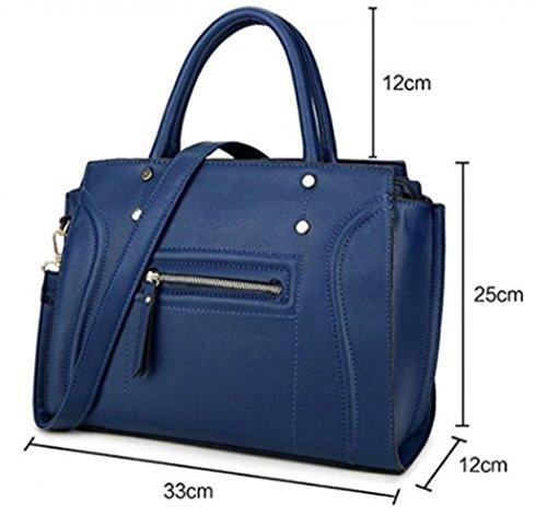 a7575a1e155cb LeahWard Große Taschen für Frauen Qualität Faux Leder Schultertaschen  Taschen für die Schule CW0155 Braun Mit Charme Rot Tragetasche