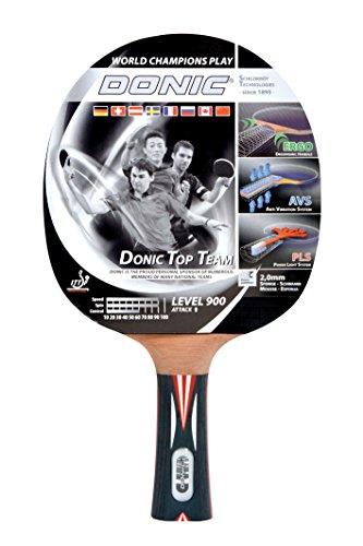 Donic-Schildkröt Tischtennis Schläger Top Teams 900 mit AVS Technologie und PLS Eego Griff, Holz/Natur, One Size, 754199