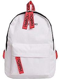 AFFECO Girls Big Canvas Travel Backpacks Women Preppy Style Shoulder School  Bags 333f019c93c9d