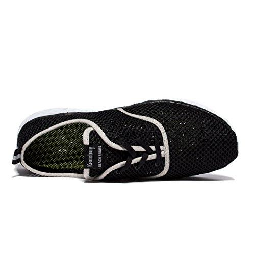 Daillor uomo, ad asciugatura rapida, per esterni, colore: verde acqua multicolore  - nero/bianco