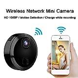 Lu Mini telecamera Wireless WiFi telecamera di monitoraggio a 1080p visione notturna HD sicurezza telecamera di sorveglianza 150 ° grandangolo acquisizione remota, connessione del telefono cellulare