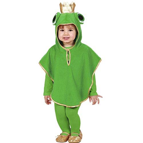 Kapuzenponcho Frog 110 cm 3-4 Jahre Froschkönig Poncho Frosch Kostüm Karnevalskostüme Kleinkinder Tierkostüm Kapuzencape Tier Kinderkostüm Märchen (Kleiner Frosch Kleinkind & Kleinkind Kostüme)