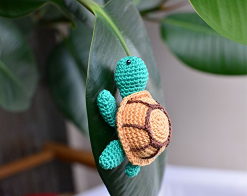 Toy turtle, crochet miniature gifts, stuffed animal, tortoiseshell