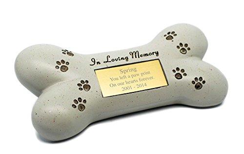 Spoken Gifts Placa con Forma de Hueso de Perro para Tumba Conmemorativa con Grabado de Cremación