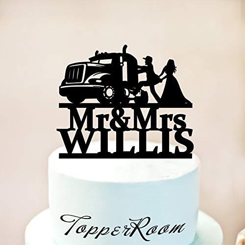 er, Hochzeitstortenaufsatz, Mr und Mrs, Trucker, Kuchendekoration, Trucker ()