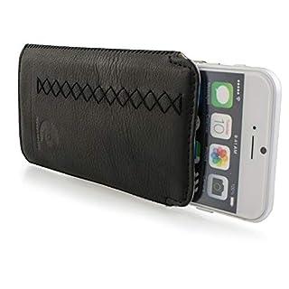 AIBULO Levish Schutzhülle für Apple iPhone 6, 6S, iPhone 7, iPhone 8, Leder, ultradünn, für iPhone 6, 6S, 7, 8 (schwarz)