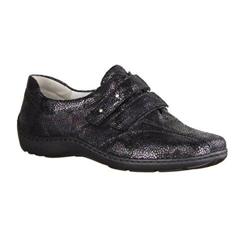 Waldläufer  496301-118194, Chaussures de ville à lacets pour femme Noir