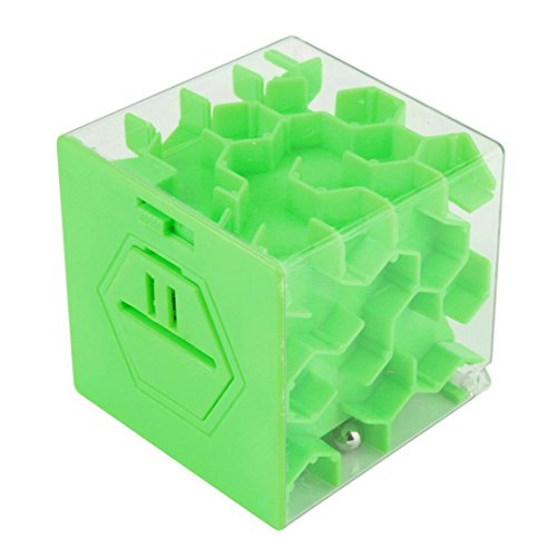 3D Labyrinth Puzzle Ball, mamum 3D Cube Puzzle Geld Labyrinth Bank Saving Coin Collection Schutzhülle Box Fun Brain Game, grün, Einheitsgröße