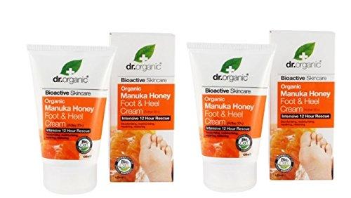 DR. ORGANIC- MANUKA HONEY CREMA PIEDI E TALLONI 2 CONFEZIONI DA 125ML lenitiva, idratante, nutriente