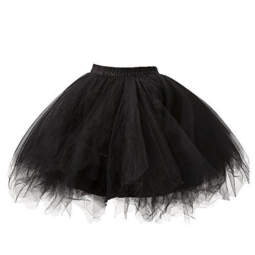 Honeystore Damen's Tutu Unterkleid Rock Abschlussball Abend Gelegenheit Zubehör Schwarz - 3