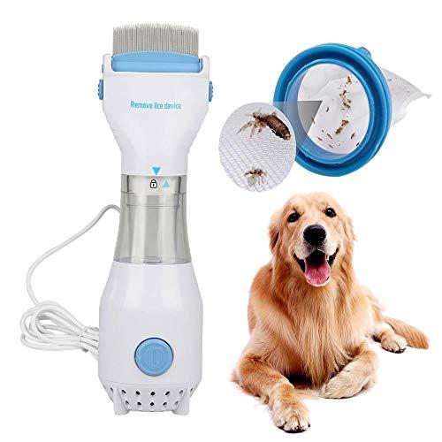 KOBWA Elektrischer Läusekamm für Läuse und Eier zum Entfernen von Flöhen, Flöhe und Zecken, Haustierhaarpflege-Werkzeug für Katzen und Hunde