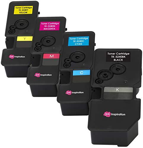 4er Set Premium Toner kompatibel für Kyocera TK-5240 ECOSYS M5526cdn M5526cdw P5026cdn P5026cdw   Schwarz 4.000 Seiten & Color je 3.000 Seiten - Mita Laser Drucker Patronen
