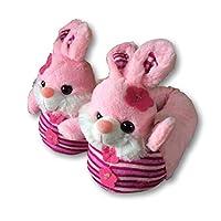 In Extenso Girls Plush 3D Novelty Rabbit Slippers