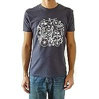 Camiseta de hombre Bicicletas - Color Azul Denim Heather - Talla XXL - Regalo para hombre - Cumpleanos - Regalo reyes