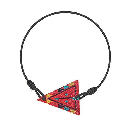 Made by Nami Armband Frauen Freundschaftsarmband Armbänder - Surfer Schmuck Damen mit Anhänger Dreieck (Rot)
