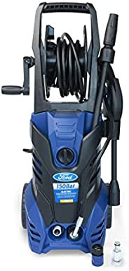 Ford 150 Bar Electric Pressure Washer With Built-In Soap Tank For Home,Garden,and Cars,Blue,F2.2