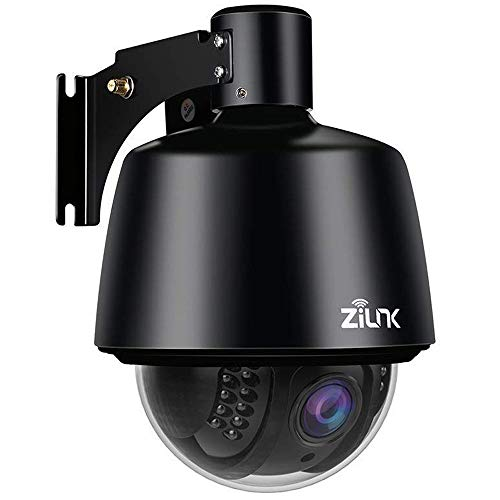 ZILNK IP Kamera WLAN Outdoor HD 1080P Schwenk/Neigen/Zoom-Überwachungskamera Aussen, 5X Optischer Zoom, Autofokus, Nachtsicht, IP65 Wasserdicht, Bewegungswarnung, Unterstützung von 128GB SD Karten