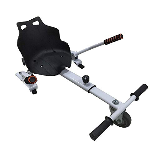 Ultraboard Sitzscooter Kart Sitz Hover Kart mit Großem Rennsitz kompatibel mit 6,5, 8, 10 Zoll (Weiß)