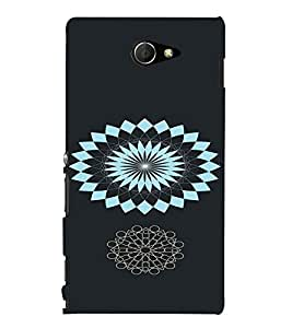 PrintVisa Ethnic Modern Art Design 3D Hard Polycarbonate Designer Back Case Cover for Sony Xperia M2 Dual