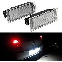 GOFORJUMP 2 unids Coche LED Número Luz de Matrícula Lámpara de Repuesto Direc para R/enault Clio Megane Twingo II Lagane II5D Vel Satis Maestro