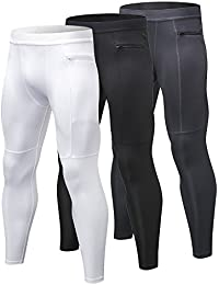 soulsfeng Mens Compression Pants Sport Tights Leggings Quick Dry Long Pants for Gym Running Cycling Fitness