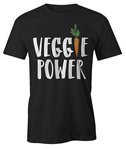 Veggie Power Komisch Carrot Vegan Vegetarian Green T-Shirt Herren Schwarz (Cute Nerd Girl Outfits)
