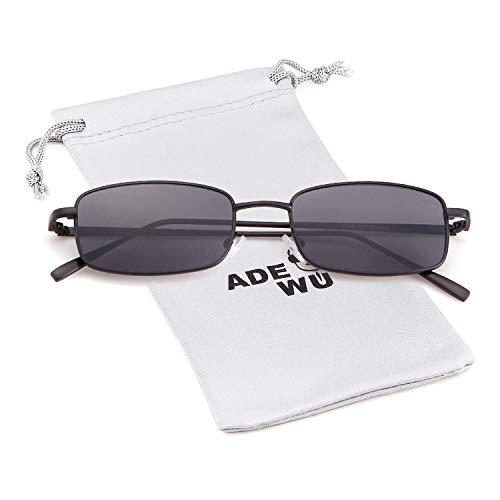 ADEWU Gafas sol cuadradas gafas retro moda mujeres