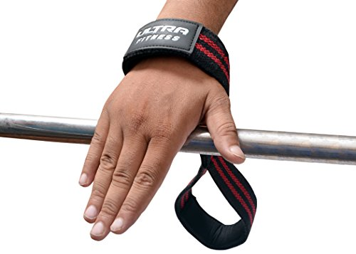 Ultra Fitness® Pro Figur 8Handgelenkriemen mit Neopren, Handgelenk-Unterstützung-Perfekt für Krafttraining mit einer Klimmzugstange oder Kreuzhebe-Riemen
