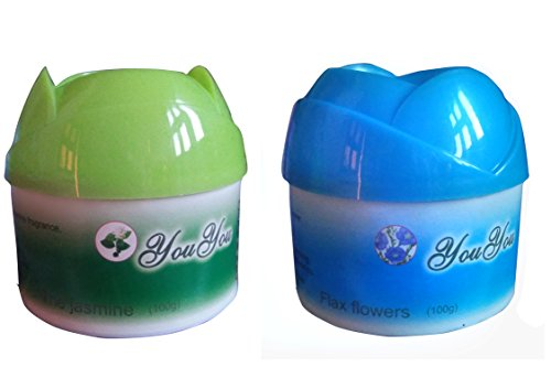 ABS-AUTO-TREND-Set-of-JASMINE-and-FLAX-FLOWERS-Air-Freshener-Gel