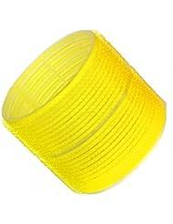 Hair Tools - Pack de 6 Rouleaux Velcro pour Cheveux - Taille Jumbo - 66mm - Jaune